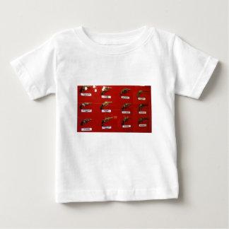 De oude zes-Schutters van het Westen Baby T Shirts