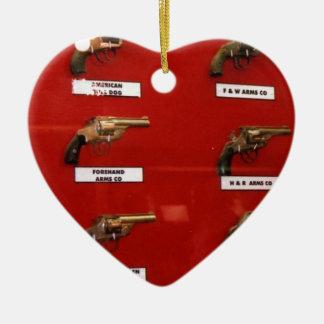 De oude zes-Schutters van het Westen Keramisch Hart Ornament