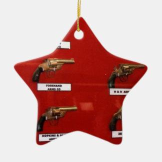 De oude zes-Schutters van het Westen Keramisch Ster Ornament