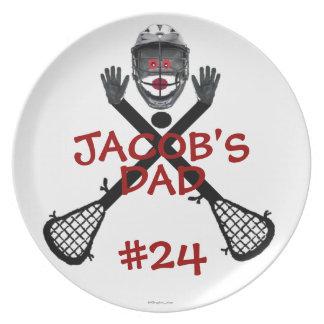 De Ouder van de Speler van de lacrosse Melamine+bord