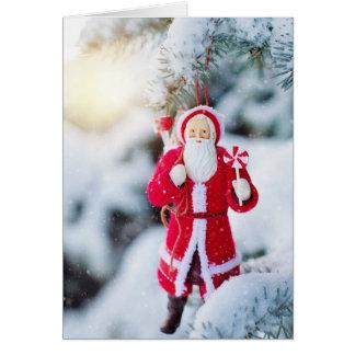 De ouderwetse Kerstkaart van de Kerstman van Kaart
