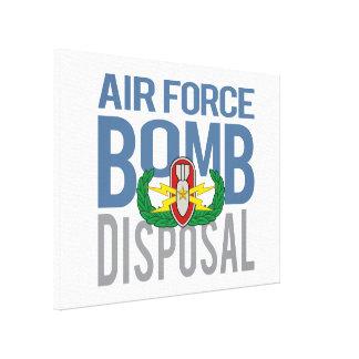 De Oudste van de Luchtmacht EOD Gallerij Wrapped Canvas