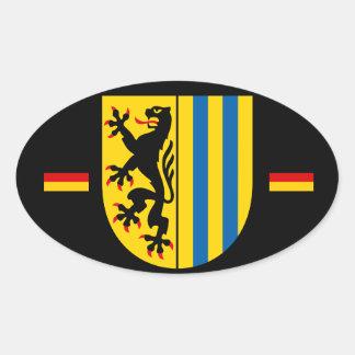 De Ovale Sticker van de euro-Stijl van Leipzig