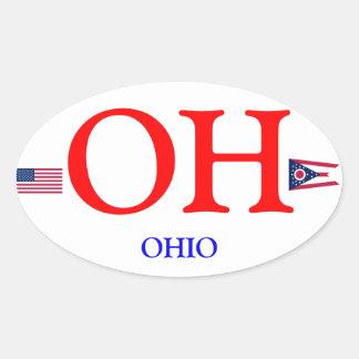 De Ovale Sticker van de euro-Stijl van Ohio*