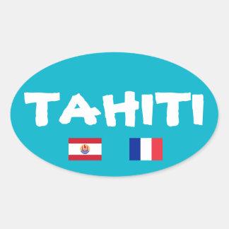 De Ovale Sticker van de euro-Stijl van Tahiti