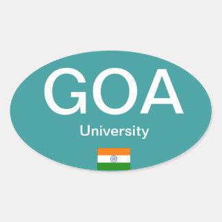 De Ovale Sticker van de euro-Stijl van University*