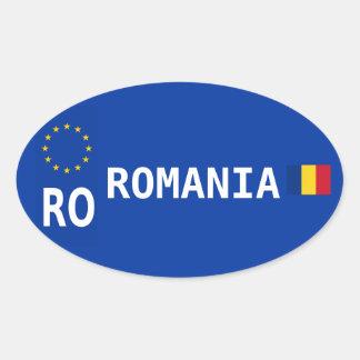 De Ovale Sticker van de Nummerplaat van Roemenië