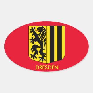 De Ovale Sticker van Dresden, Duitsland