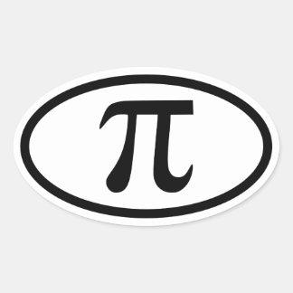 De Ovale Sticker van pi