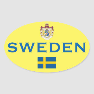 De Ovale Sticker van Zweden - van de euro-Stijl