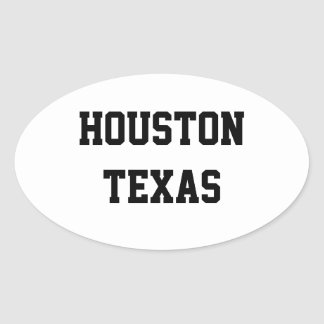 De ovale stickers van Houston Texas