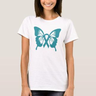 De ovariale t-shirt van de Vlinder van Kanker