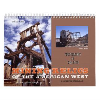 De Overblijfselen van de mijnbouw van het Kalender