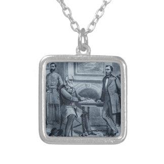 De Overgave van luwtes in Appomattox 1865 Zilver Vergulden Ketting
