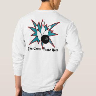 De Overhemden van het Team van het kegelen T Shirt