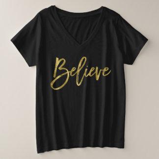 De Overhemden van Kerstmis voor Vrouwen plus Grote Maat V-hals T-shirt