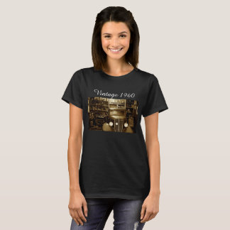 de overhemdenauto van vintage vrouwen t shirt