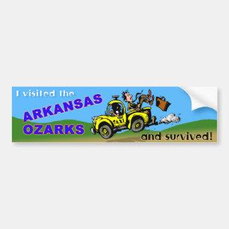 De overlevende van de Bezoeker van Arkansas Bumpersticker