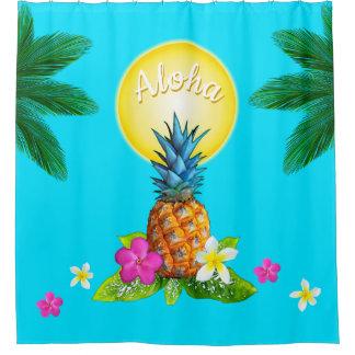 De overweldigende Hawaiiaanse Ananas en de Zon van Douchegordijn