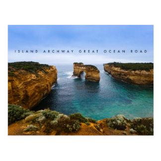 De Overwelfde galerij van het eiland op de Grote Briefkaart