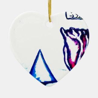 De Overwinning van een Hart door Helderheid Keramisch Hart Ornament