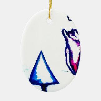 De Overwinning van een Hart door Helderheid Keramisch Ovaal Ornament