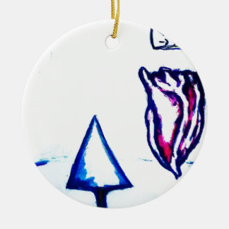 De Overwinning van een Hart door Helderheid Rond Keramisch Ornament