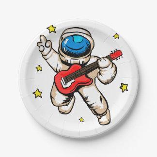 De overwinningsgebaar van de astronaut papieren bordje