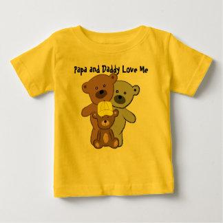De pa en de Papa houden van me Baby T Shirts