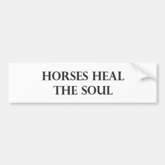 De paarden helen de Ziel Bumpersticker