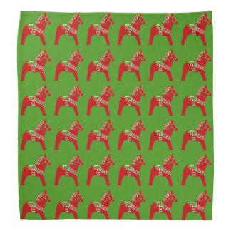 De Paarden van Dala van Kerstmis Bandana