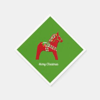 De Paarden van Dala van Kerstmis Wegwerp Servet