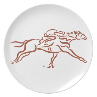 De Paarden van het ras Melamine+bord