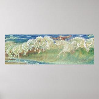 De Paarden van Neptunus door Walter Crane Poster