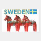 De Paarden van Zweden Dala Rechthoekige Sticker