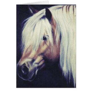 """""""De paardenkaart van het Pony Haflinger"""" Kaart"""