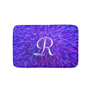 De paarse Abstracte Badmat Met monogram van de
