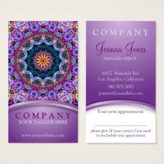 De paarse benoeming van Lotus Mandala Visitekaartjes