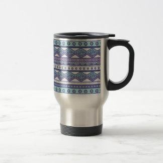 De paarse Blauwe Azteekse Modieuze Moderne Trendy Reisbeker