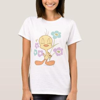 De Paarse Blauwe Bloemen van Tweety T Shirt