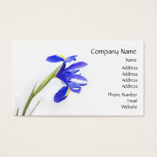 De paarse Bloem van de Iris Visitekaartjes