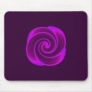 De paarse Bloem van de Werveling Muismatten