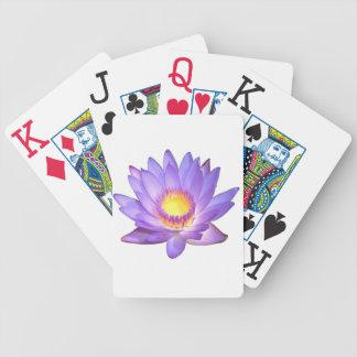De paarse Bloem van Lotus Poker Kaarten