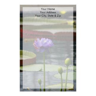 De paarse Bloem van Lotus Waterlily Briefpapier