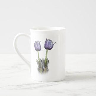 De paarse Bloemen van de Krokus Theekop