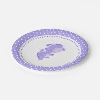 De paarse Borden van het Document van het Baby Papieren Bordje