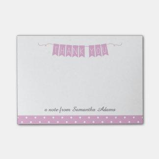 De paarse Bunting van de Lavendel Nota's van de Post-it® Notes