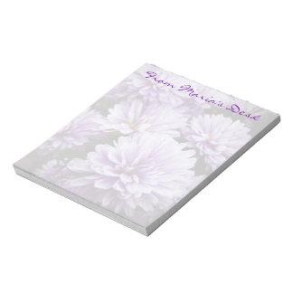 De paarse Chrysanten van de Nevel Notitieblok