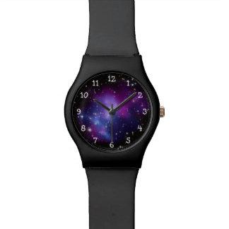De paarse Cluster van de Melkweg Horloges