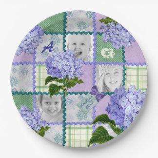 De paarse Collage van het Dekbed van de Foto van Papieren Bordje